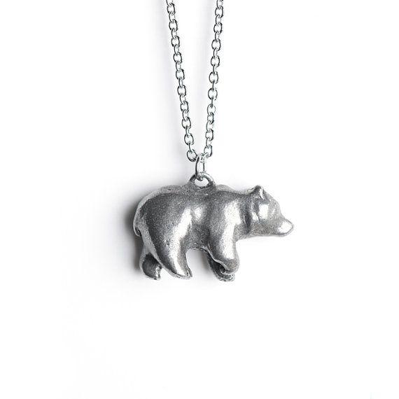 Bear Totem, Bear Necklace, August / September Totem, Virgo