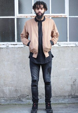 NEW+IN+-++Tan+Brushed+Suede+Look+Bomber+Jacket+