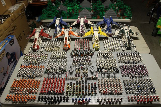 The biggest army in the world. Actually. There are more Lego Clone (Storm?)Troopers than any other army in the world.
