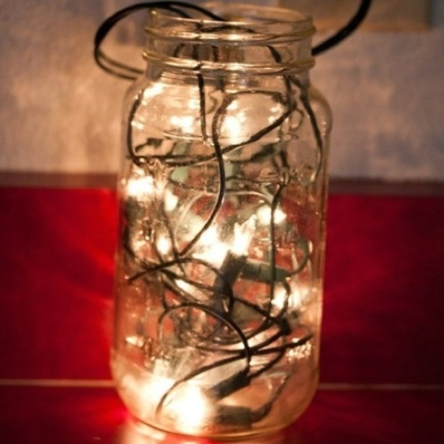 Christmas lights in a mason jar | Home | Pinterest