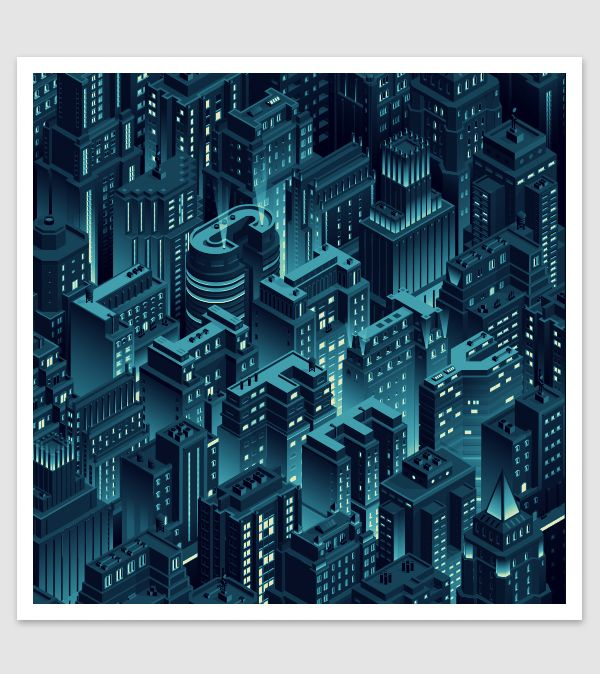 City Life - Isometric Cityscape by Coen Pohl. Beautiful Illustration with detailed close ups
