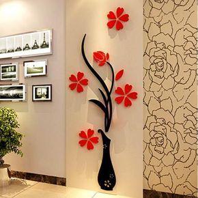 Pegatina Acrílica 3D Diseño Floral para Paredes | Linio Chile