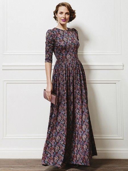 Платье La vida rica. Цвет фиолетовый, розовый, черный. Категории: Длинные платья, Платья.