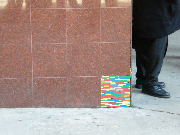 Filling in broken pieces of the world with LEGO.