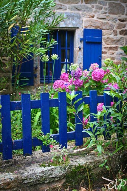 Inspiration : belle association du bleu & du rose