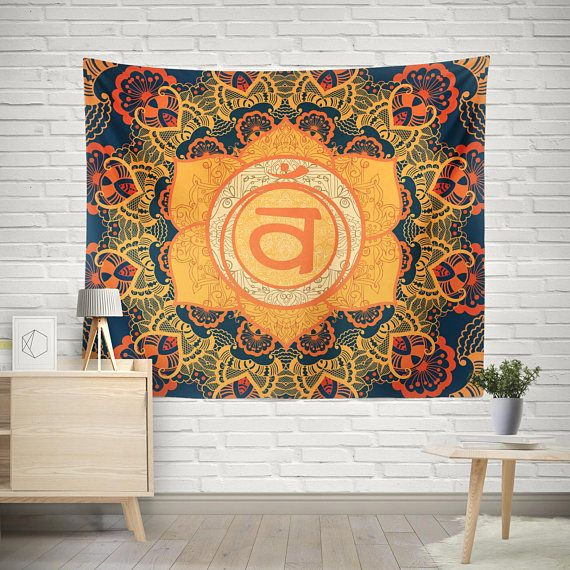 Sacral Tapestry, Mandala Tapestry, Sacred Mandala, Mandala Wall Hanging, Boho Tapestry, Hippie Tapestry, Second Chakra, Svadhisthana Wall Tapestry