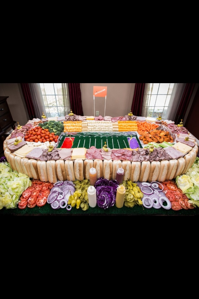 Build your own sub - Super Bowl party food