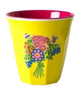 Melamine cup - Flower Bouquet Print