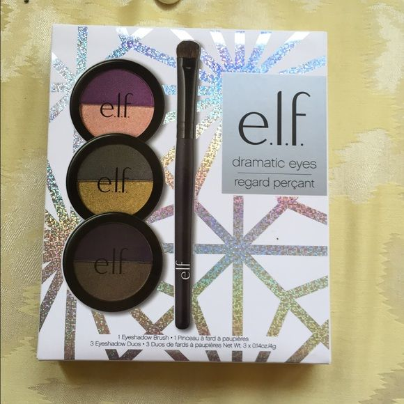 2 for $10 dramatic eye set Comes with 6 eye shadow colors and a brush. Colors are beautiful and pic is on box. Makeup Eyeshadow