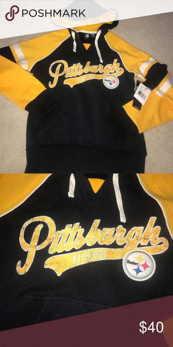 NWT Pittsburgh Steelers sweatshirt NWT black&yellow pittsburgh steelers sweatshirt. From NFL team apparel NFL Jackets & Coats