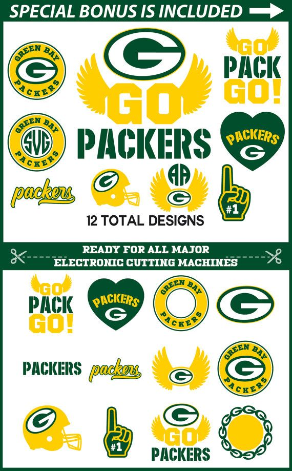 Green Bay Packers Svg Cut Files For Cricut Green Bay Svg