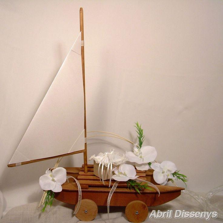 Barco de marquetería para anillos Orquídeas