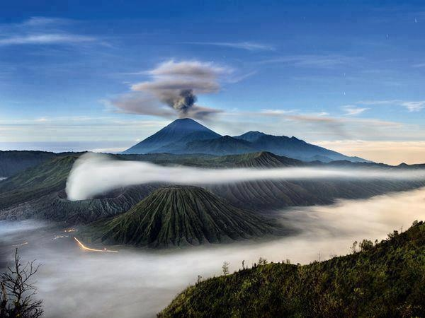 Bromo Tengger Semeru National Park is located in East Java, Indonesia, to the east of Malang and to the southeast of Surabaya, the capital of East Java