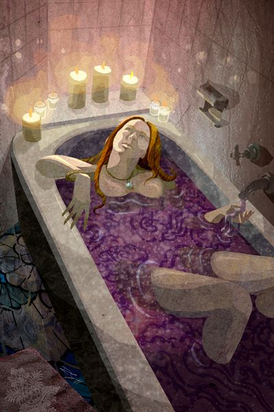 The High Priestess - The Urban tarot : the priestess encourages us to find the deep inner strength beneath the waters of the soul