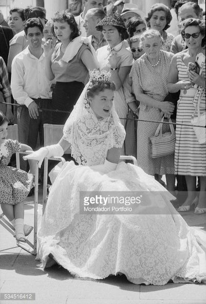 AustrianFrench actress Romy Schneider as Elizabeth of Bavaria on the set of Sissi – Fateful Years of an Empress Venice 1957