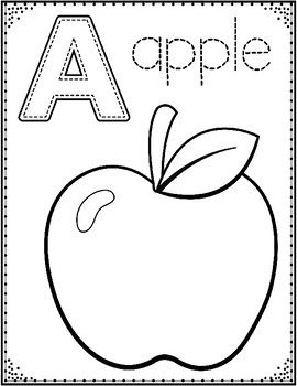 Alphabet Coloring Sheets: PreKindergarten and Kindergarten
