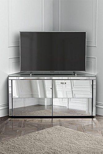 MY Furniture Meuble miroir TV d angle Monte Carlo