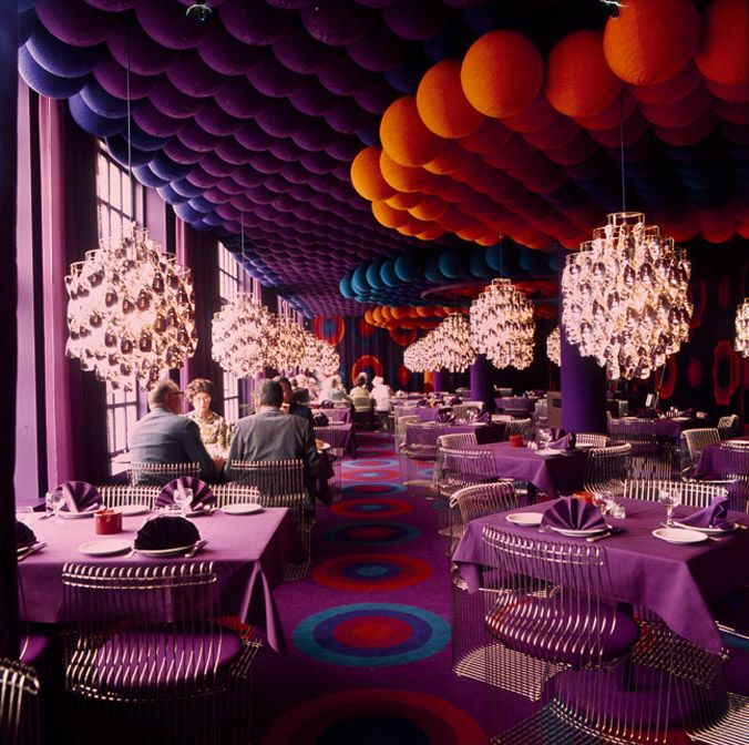 The iconic Varna Restaurant by Verner Panton. 1971