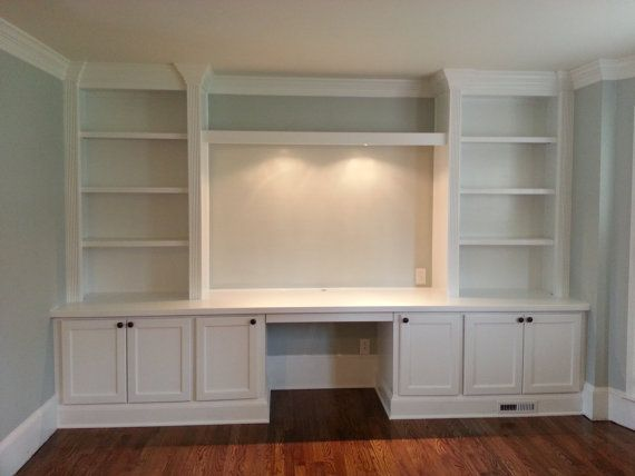 Built in home office desk by BuiltInBetter on Etsy, $3000.00 Desk in the front for another workspace