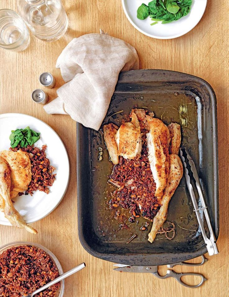Provençal chicken with camargue red rice stuffing from Grains | Cooked