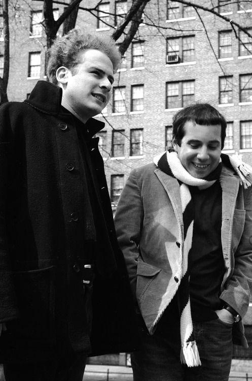 Simon & Garfunkel. Paul Simon has the dorkiest smile.*awww no its not. He's adorable! !