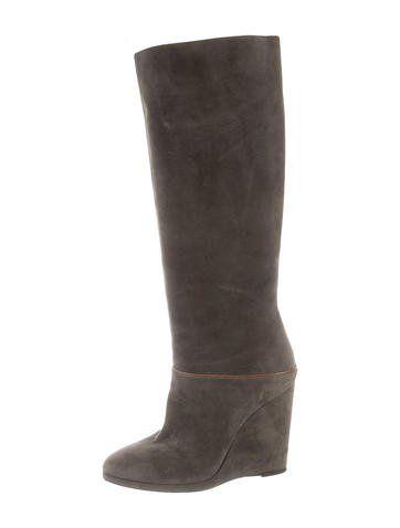 Dolce & Gabbana Knee-High Wedge Boots