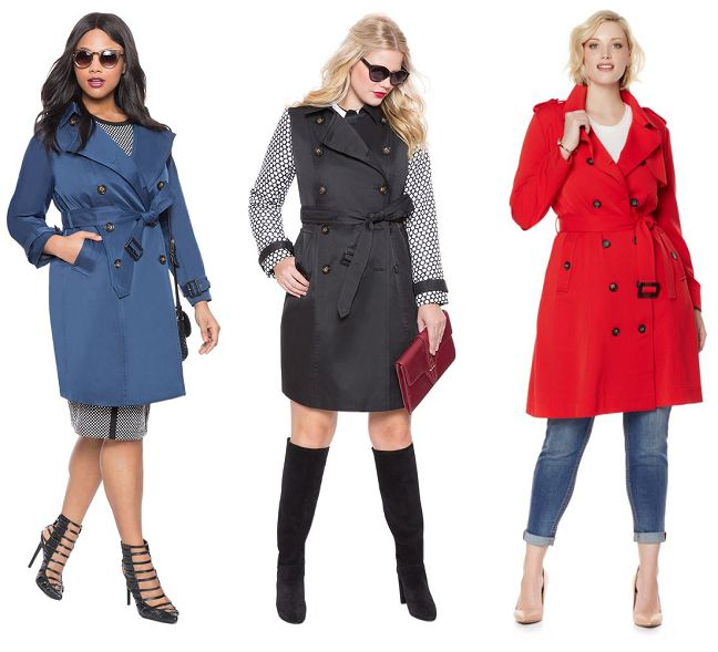 Shapely Chic Sheri - Curvy Fashion and Style Blog: 20+ Plus-Size Trench Coats