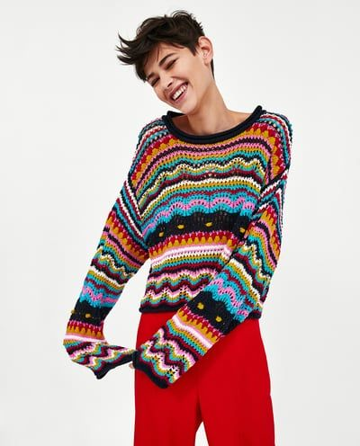 Image 2 of MULTICOLOURED SWEATER from Zara