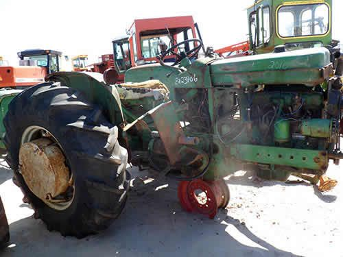 John Deere 2010 tractor salvaged for used parts. This unit is available at All States Ag Parts in Bridgeport, NE. Call 877-530-5010 parts. Unit ID#: EQ-23806. The photo depicts the equipment in the condition it arrived at our salvage yard. Parts shown may or may not still be available. http://www.TractorPartsASAP.com
