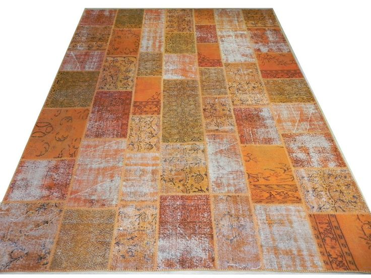9x12 Ft (275x366 cm) ORANGE Color Patchwork  Rug from Rug Store by DaWanda.com