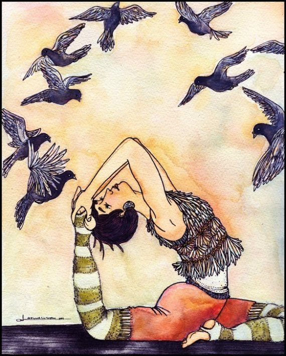Great yoga art.......want some! Loved and pinned by www.downdogboutique.com