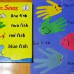 Dr. Seuss Handprint Things | Fun Family Crafts: Preschool Ideas, Seuss Crafts, Red Fish, Dr Suess, Dr. Seuss, Classroom Ideas, Dr Seuss, Blue Fish