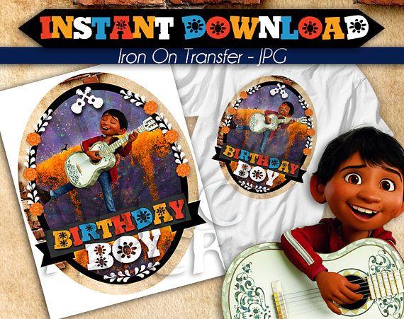 T-SHIRT IRON ON TRANSFER DISNEY COCO::::SISTER OF THE::BIRTHDAY BOY