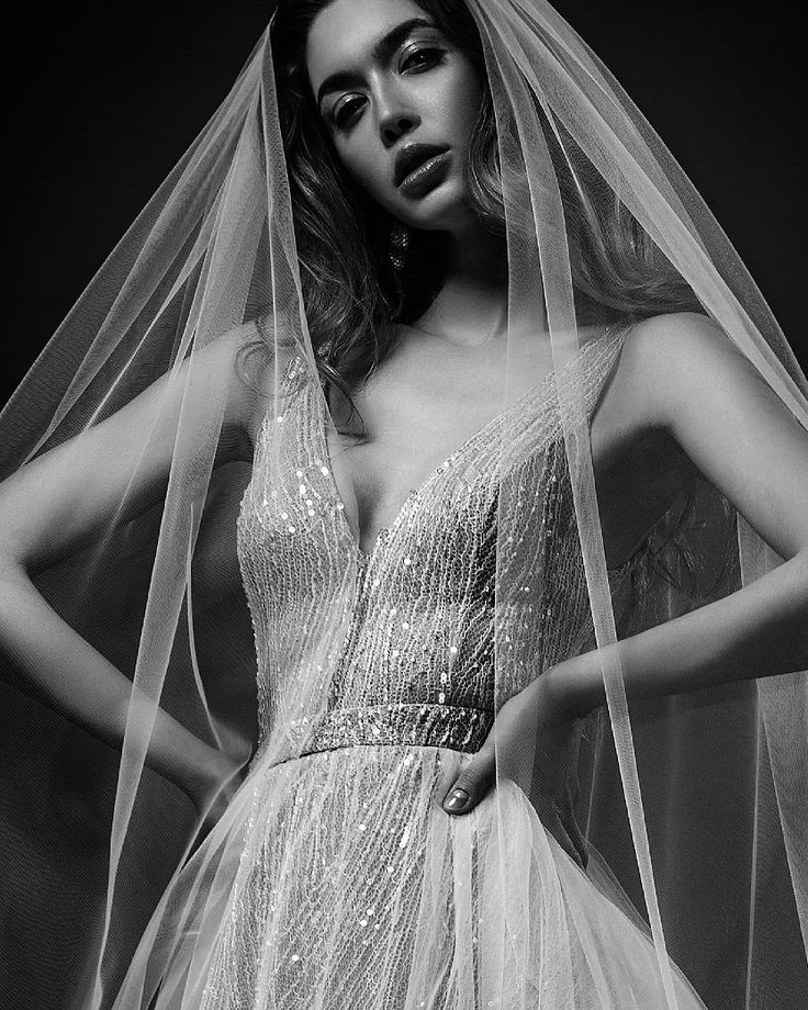 French lace hand embroidered with shimmering sequins gown. Ersa Atelier 2018 Miss Hunt wedding dress