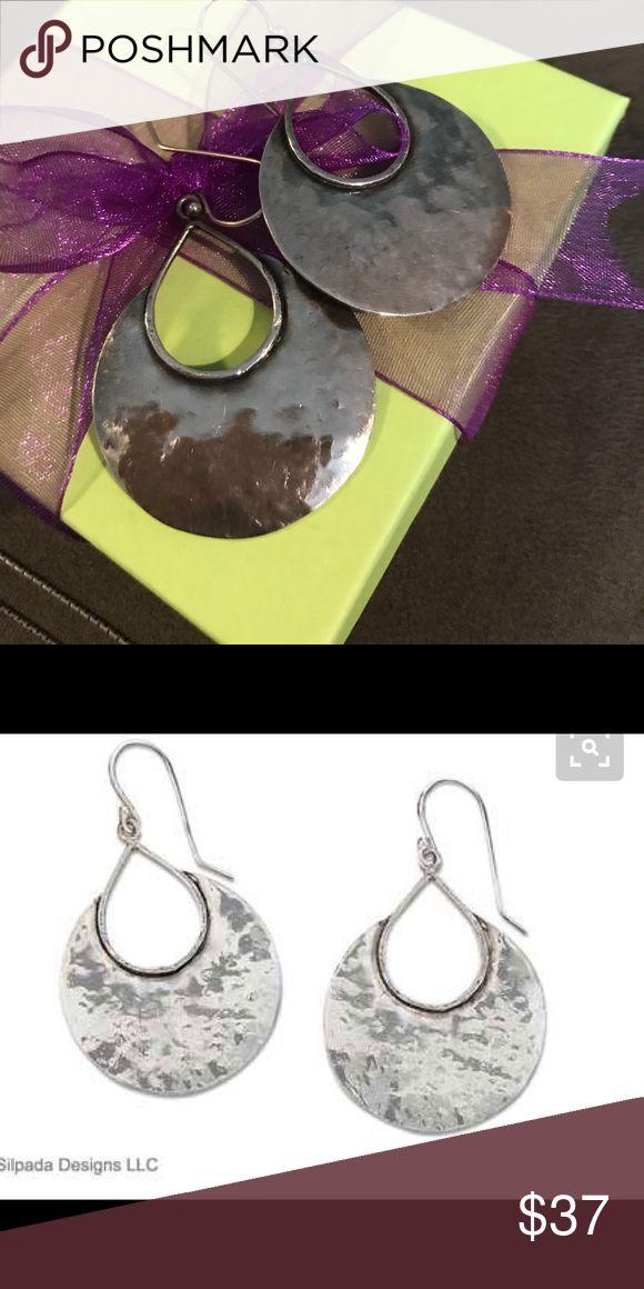 Earrings Silpada retired hammered silver Silpada Jewelry Earrings