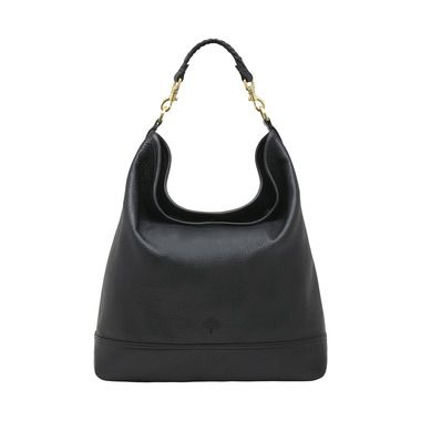 Mulberry - Effie Hobo in Black Spongy Pebbled