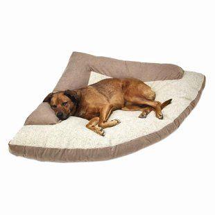 SuperSoft Max Corner Dog Bed  http://www.doghouses.com/dog-beds/bolster-dog-beds/supersoftmaxcornerdogbed.cfm