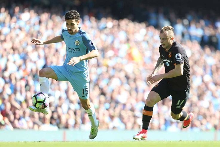 Jesus Navas in a win against Hull City.