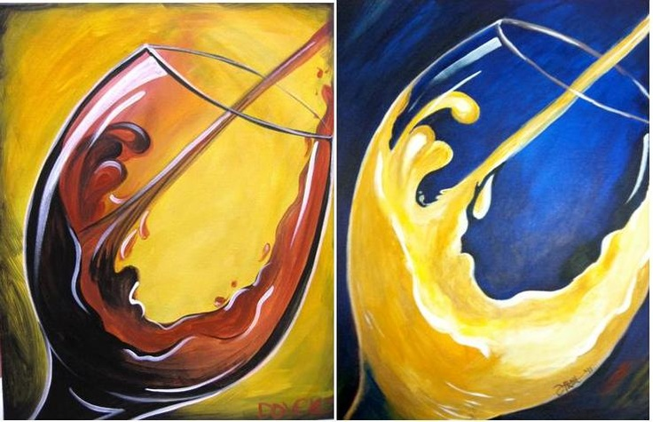 For the wine room very andy warhol esque orlando for Wine and paint orlando