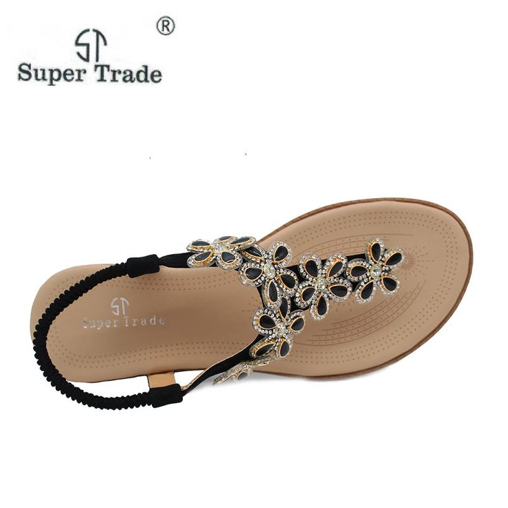 New Arrival 2017 Women Sandals Beaded Ladies Flip Flops Bohemia Woman Shoes Comfort Beach Summer Flat. Click visit to buy #womensandal #sandal