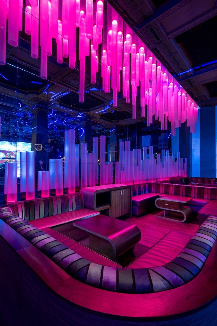 Photos bild galeria decoration murale design - Parq Restaurant Nightclub Davis Ink Restaurant Bar Design