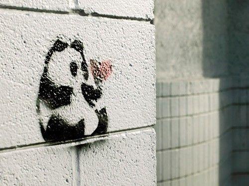 Graffiti <3: Pandas Heart, Danda Graffiti, Pandas Danda, Street Art, Fine Art, Pandas Graffiti, Pandas Tattoo Ideas, Heart Fine, Graffiti Artists