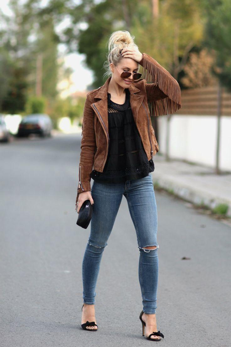 Jacket/Barbara Bui Top/Isabel Marant Etoile Jeans/AllSaints Heels/Isabel Marant (from last year) Sunnies/RayBan Bag/Chanel