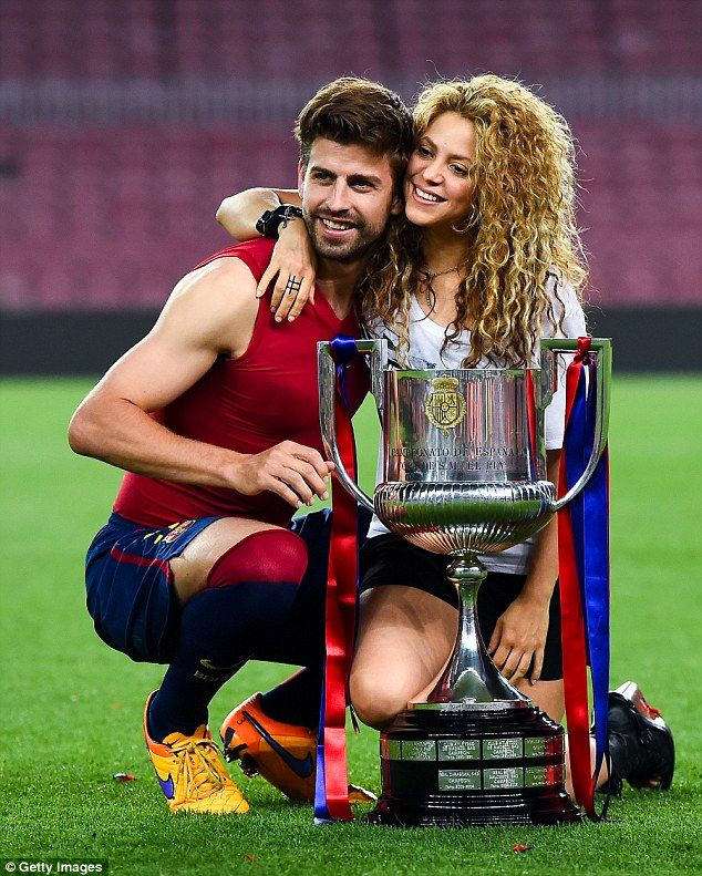 Her man: Shakira, born Shakira Isabel Mebarak Ripoll in Colombia, has two sons with soccer star Gerard Piqué; seen in 2015
