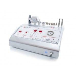 Urządzenie do zabiegów na twarz i ciało. Przejrzysty panel, intuicyjna obsługa. Cztery funkcje w jednym urządzeniu  przy zachowaniu małych gabarytów sprawiają, że jest to dobre rozwiązanie dla gabinetów kosmetycznych i centrów SPA.