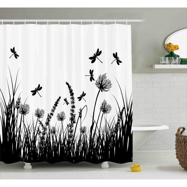 Faya Grass Bush Meadow Spring Single Shower Curtain Bathroom