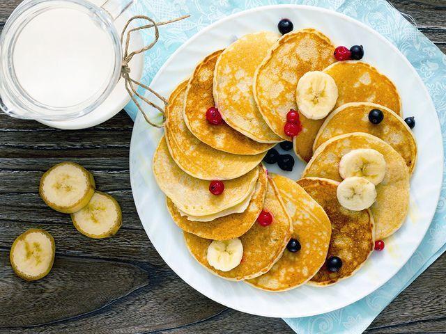 Bananpannkaka är ett gott och nyttigt alternativ till den traditionella pannkakan. Servera som de är eller med topping som smält choklad (minst 70%), färska bär, vaniljkvarg, keso, bacon, jordnötssmör