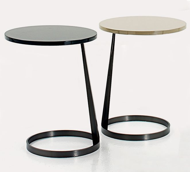 Delightful Side Table With Metal Base Painted With A Round Or Oval Top Available In  Glass Or Lacquered. Finish: Painted Glass, Matt Or Polished Lacquered. Design Inspirations