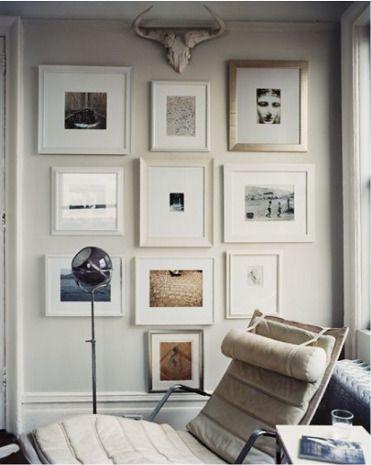 gallery wall: Wall Art, Photo Layout, Galleries Wall, Photo Wall, Wall Prints, White Frames, Frames Wall, Art Wall, White Wall