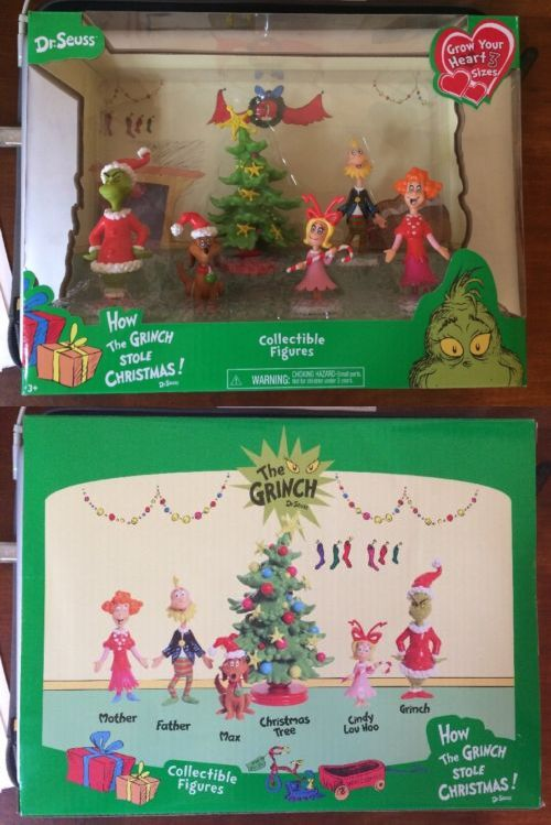 Dr Seuss 20906: Dr.Seuss How The Grinch Stole Christmas Collectible Figures Set Nib -> BUY IT NOW ONLY: $32.99 on eBay!